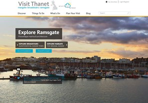 Visit Thanet website homepage